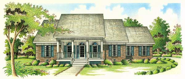 Country Southern House Plan 65670 Elevation