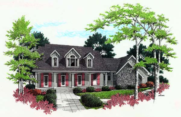 Country Tudor House Plan 65671 Elevation