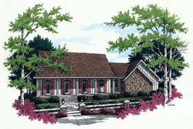 House Plan 65672 | Country Style House Plan with 1925 Sq Ft, 3 Bed, 2 Bath, 2 Car Garage Elevation