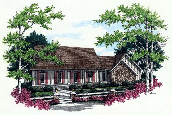 Country, House Plan 65672 with 3 Beds, 2 Baths, 2 Car Garage Elevation
