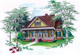 House Plan 65673 | Country Southern Style Plan with 2542 Sq Ft, 3 Bedrooms, 4 Bathrooms, 2 Car Garage Elevation