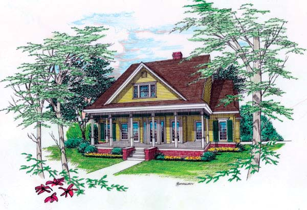 Country Southern House Plan 65673 Elevation