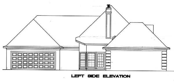 Mediterranean, One-Story House Plan 65674 with 3 Beds, 2 Baths, 2 Car Garage Picture 1
