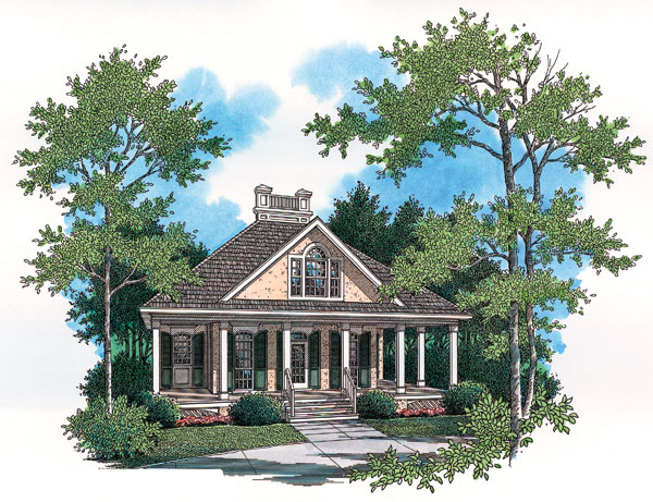Colonial European Southern House Plan 65676 Elevation