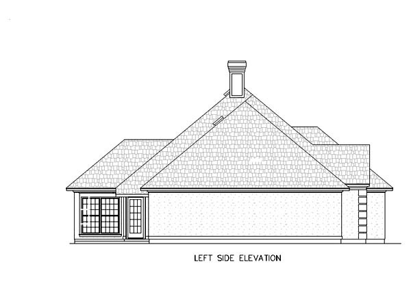 Mediterranean, One-Story House Plan 65677 with 4 Beds, 2 Baths, 2 Car Garage Picture 1