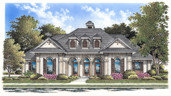 European Mediterranean House Plan 65678 Elevation