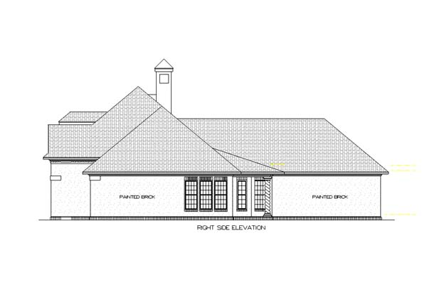 European, Mediterranean, One-Story House Plan 65678 with 4 Beds, 2 Baths, 2 Car Garage Picture 1