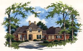 European , Mediterranean House Plan 65679 with 4 Beds, 5 Baths, 3 Car Garage Elevation