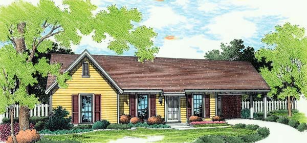 Ranch Traditional House Plan 65680 Elevation