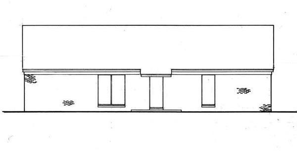 Ranch Traditional House Plan 65680 Rear Elevation