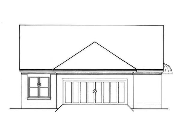 Southern House Plan 65681 Rear Elevation