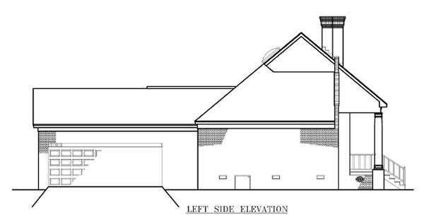 One-Story, Southwest House Plan 65682 with 3 Beds, 2 Baths, 2 Car Garage Picture 1