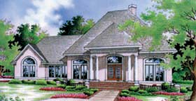 Southern House Plan 65683 with 3 Beds, 2 Baths, 2 Car Garage Elevation