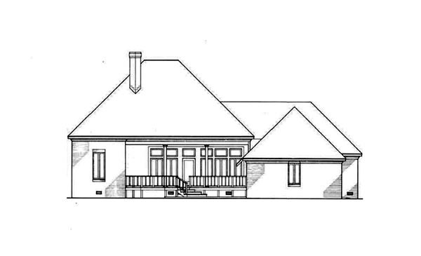 Southern House Plan 65683 Rear Elevation
