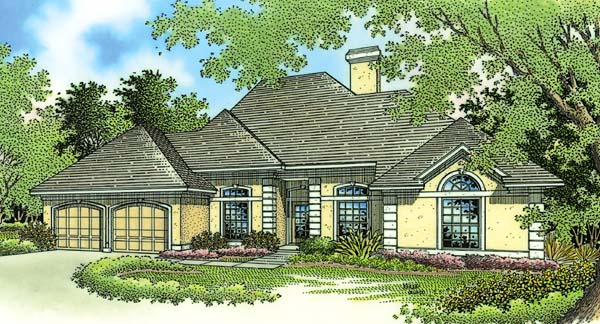 European House Plan 65684 Elevation