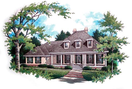Traditional House Plan 65685 with 3 Beds, 3 Baths, 2 Car Garage Elevation