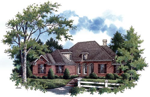 Traditional House Plan 65686 Elevation