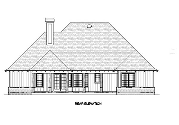 Traditional House Plan 65687 Rear Elevation