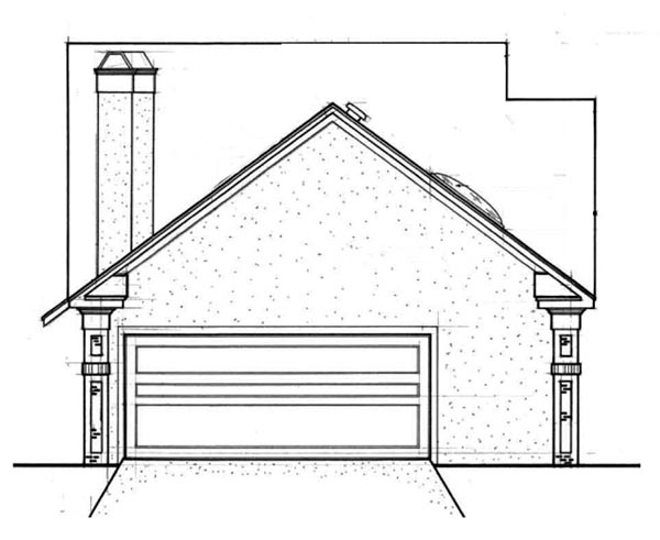 Traditional House Plan 65690 Rear Elevation