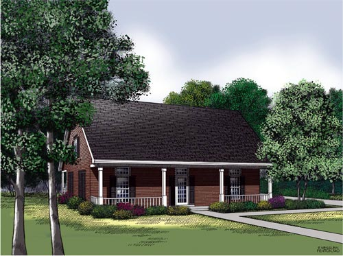 Country, Southern House Plan 65692 with 3 Beds, 2 Baths, 2 Car Garage Elevation