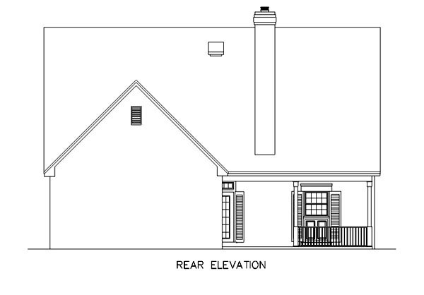 Country Southern House Plan 65692 Rear Elevation