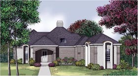 House Plan 65693 | Traditional Style Plan with 1881 Sq Ft, 2 Bedrooms, 2 Bathrooms, 2 Car Garage Elevation