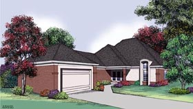 House Plan 65694 | Traditional Style House Plan with 1824 Sq Ft, 2 Bed, 2 Bath, 2 Car Garage Elevation