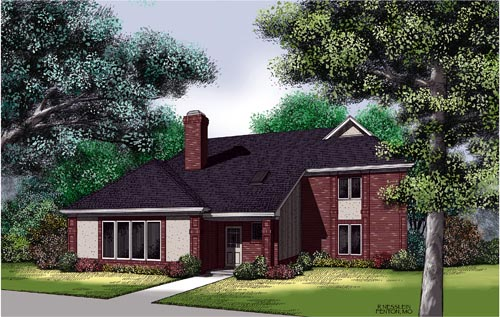 Traditional House Plan 65702 Elevation
