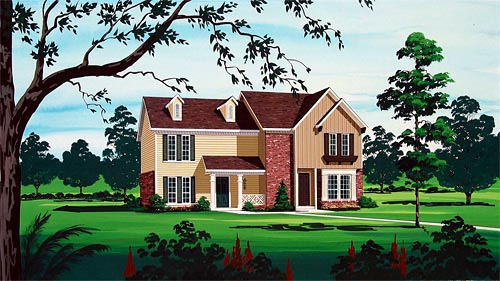 House Plan 65718 Elevation