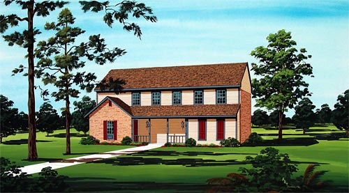 House Plan 65719 with 2 Beds, 2 Baths Front Elevation