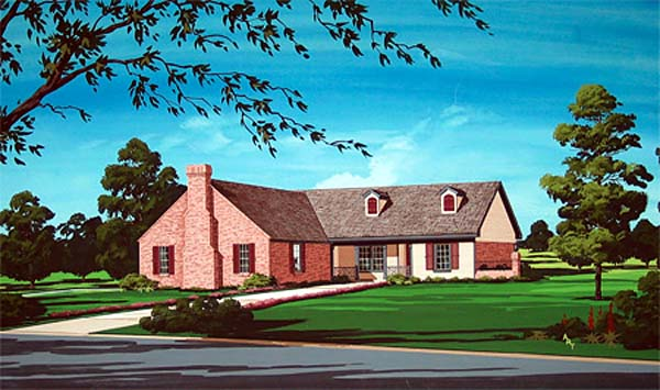 Traditional House Plan 65727 Elevation