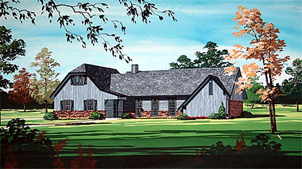 Traditional House Plan 65728 Elevation