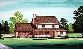 Traditional House Plan 65729 Elevation