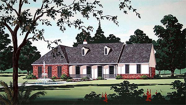 Traditional House Plan 65732 Elevation