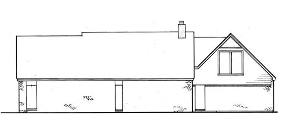Traditional House Plan 65732 Rear Elevation