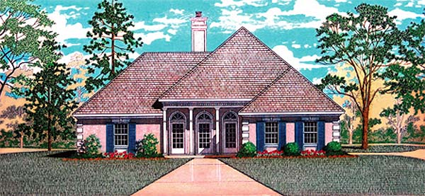 House Plan 65736 | Traditional Style Plan with 1430 Sq Ft, 3 Bedrooms, 2 Bathrooms, 2 Car Garage Elevation