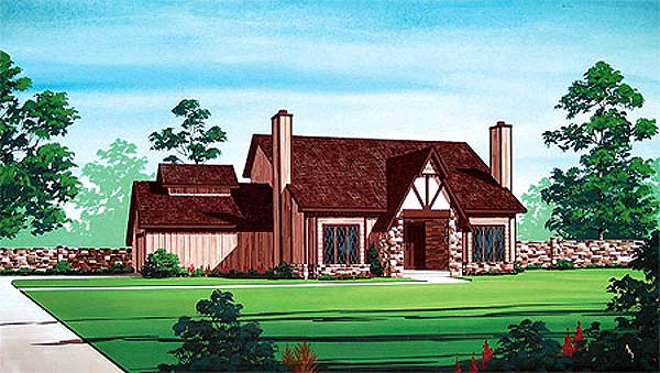 Traditional House Plan 65742 with 3 Beds, 2 Baths, 2 Car Garage Elevation