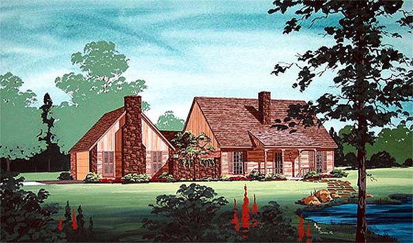 Traditional House Plan 65744 Elevation