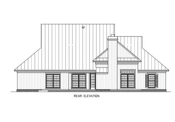 House Plan 65745 Rear Elevation
