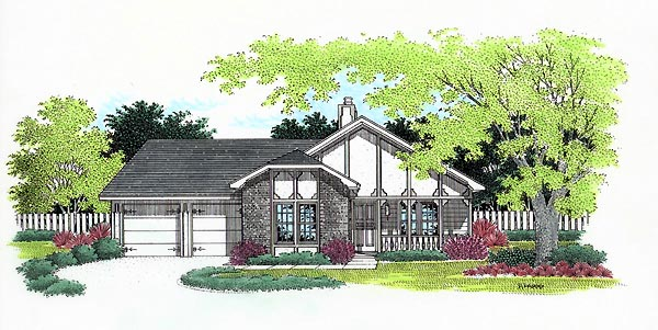 Tudor House Plan 65747 Elevation