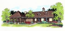 European House Plan 65749 Elevation