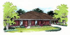 House Plan 65752 Elevation