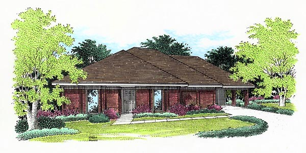 House Plan 65752 Elevation