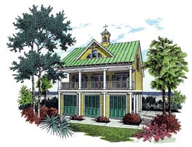 Coastal House Plan 65754 Elevation