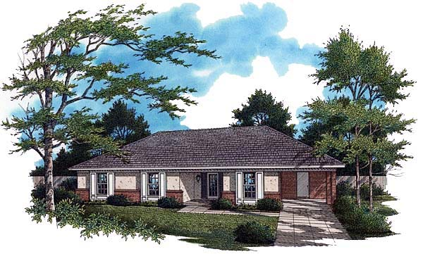 Contemporary House Plan 65755 Elevation