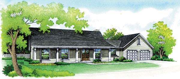Ranch House Plan 65757 Elevation
