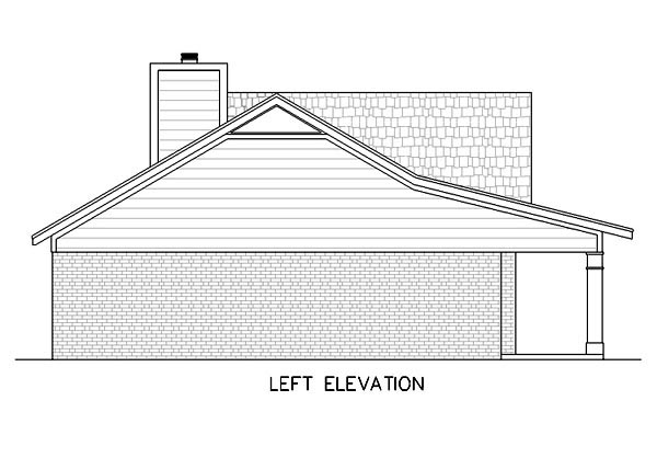 One-Story, Ranch House Plan 65757 with 3 Beds, 2 Baths, 2 Car Garage Picture 1