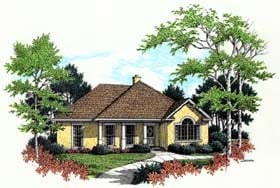 Traditional House Plan 65758 with 3 Beds, 2 Baths, 2 Car Garage Elevation