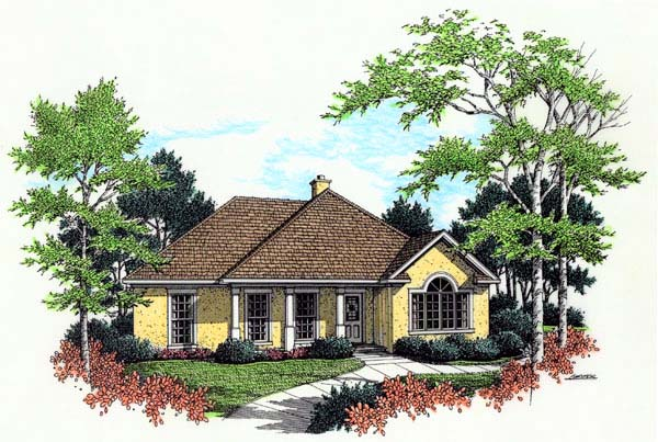 Traditional House Plan 65758 Elevation