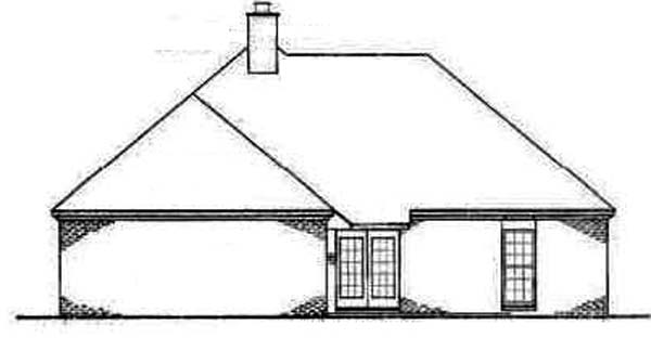 Traditional House Plan 65758 Rear Elevation